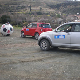 cyprus-team-building-giant-fottball-jeeps